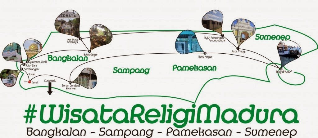 peta wisata religi madura